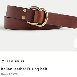 J.crew talian leather D-ring belt $65 ac726